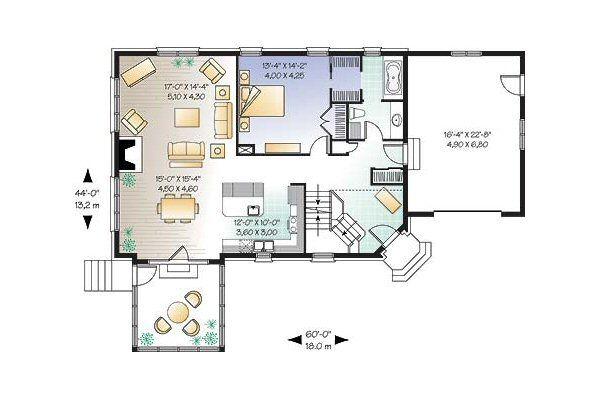 Cottage Floor Plan - Main Floor Plan Plan #23-675