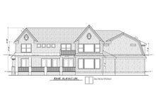 Architectural House Design - Colonial Exterior - Rear Elevation Plan #20-2442