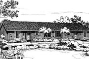 Ranch Style House Plan - 2 Beds 1 Baths 1706 Sq/Ft Plan #303-173 Exterior - Front Elevation