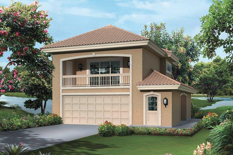 Dream House Plan - Mediterranean Exterior - Front Elevation Plan #57-698