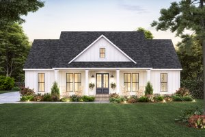 Farmhouse Exterior - Front Elevation Plan #1074-44