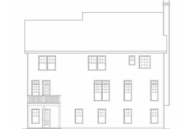 Traditional Exterior - Rear Elevation Plan #419-152 - Houseplans.com