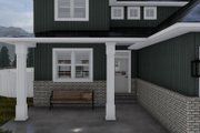 Craftsman Style House Plan - 4 Beds 2.5 Baths 2399 Sq/Ft Plan #1060-52 Exterior - Covered Porch