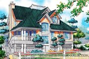 Country Style House Plan - 3 Beds 2 Baths 1886 Sq/Ft Plan #930-48 Exterior - Front Elevation