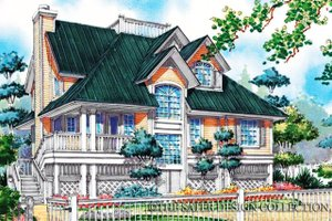 Country Exterior - Front Elevation Plan #930-48