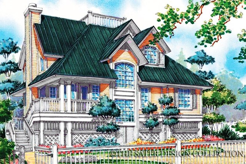House Plan Design - Country Exterior - Front Elevation Plan #930-48