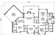 European Style House Plan - 4 Beds 3.5 Baths 2828 Sq/Ft Plan #419-305 Floor Plan - Main Floor Plan
