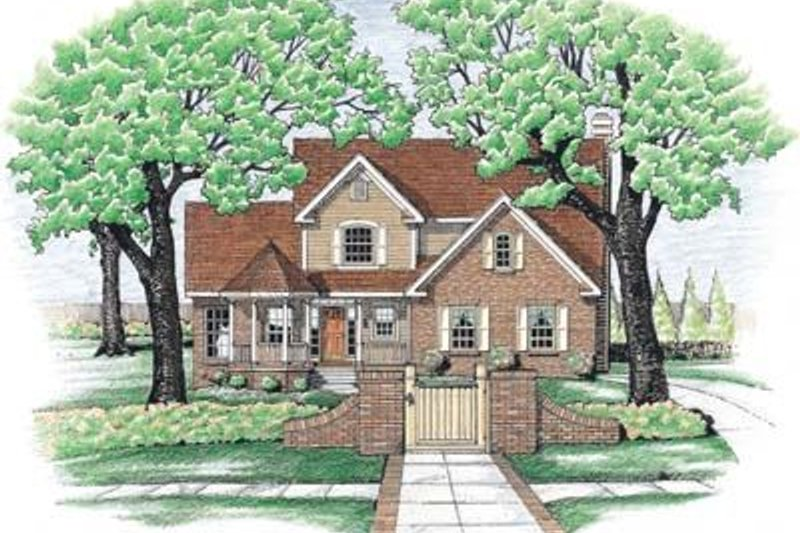 Home Plan Design - Traditional Exterior - Front Elevation Plan #20-634