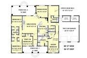 European Style House Plan - 5 Beds 3 Baths 2550 Sq/Ft Plan #44-157 Floor Plan - Main Floor Plan