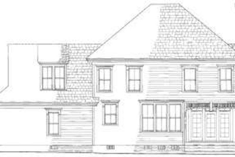 Traditional Exterior - Rear Elevation Plan #137-206 - Houseplans.com