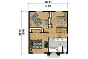 Contemporary Style House Plan - 3 Beds 1 Baths 1456 Sq/Ft Plan #25-4295 Floor Plan - Upper Floor Plan