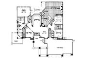 European Style House Plan - 3 Beds 2.5 Baths 2397 Sq/Ft Plan #417-258 Floor Plan - Main Floor Plan