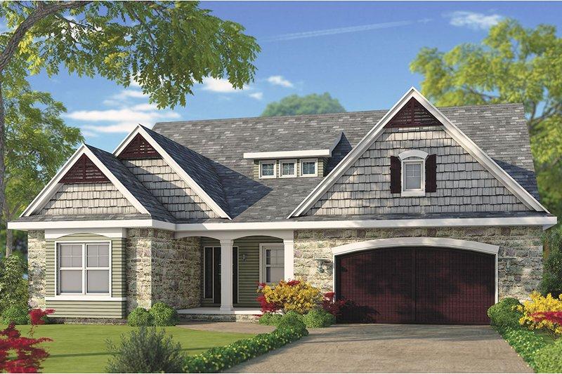 Architectural House Design - Craftsman Exterior - Front Elevation Plan #20-2281