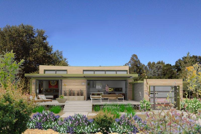 Home Plan - Modern Exterior - Front Elevation Plan #484-4
