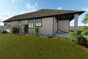 Ranch Style House Plan - 3 Beds 2 Baths 1635 Sq/Ft Plan #1060-42 Exterior - Other Elevation