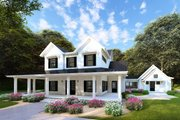 Farmhouse Style House Plan - 4 Beds 3.5 Baths 3342 Sq/Ft Plan #923-101 Exterior - Front Elevation