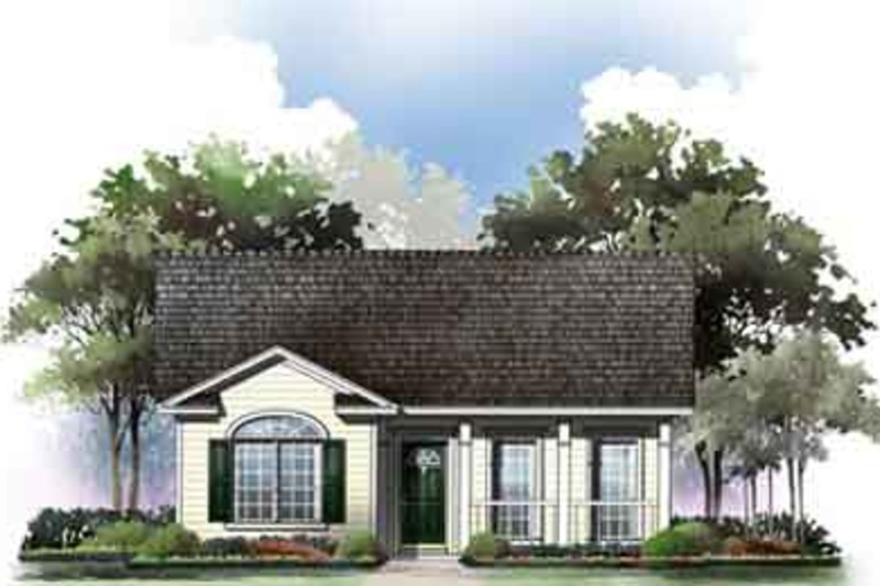 Cottage Exterior - Front Elevation Plan #21-168