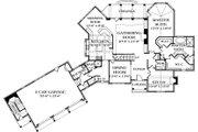 European Style House Plan - 3 Beds 4.5 Baths 3660 Sq/Ft Plan #453-42 Floor Plan - Main Floor