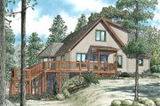 Cabin Style House Plan - 3 Beds 2.5 Baths 2340 Sq/Ft Plan #17-2469 Exterior - Front Elevation