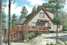 Home Plan - Cabin Exterior - Front Elevation Plan #17-2469