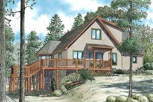 Cabin Exterior - Front Elevation Plan #17-2469