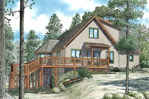 Cabin Exterior - Front Elevation Plan #17-2469