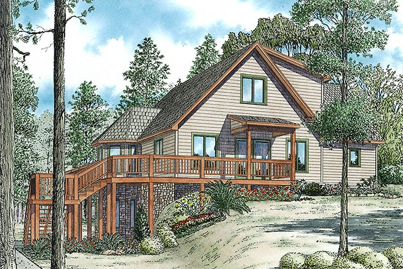 Cabin Style House Plan - 3 Beds 2.5 Baths 2340 Sq/Ft Plan #17-2469