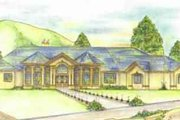 European Style House Plan - 3 Beds 3 Baths 3575 Sq/Ft Plan #117-148 Exterior - Front Elevation