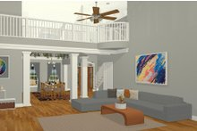 Craftsman Interior - Family Room Plan #56-719
