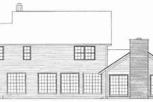 House Blueprint - Country Exterior - Rear Elevation Plan #72-307