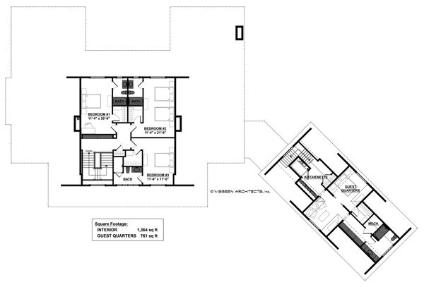 Country Floor Plan - Upper Floor Plan Plan #928-307