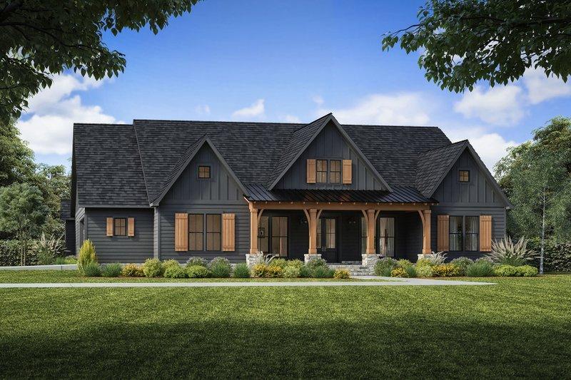 Architectural House Design - Farmhouse Exterior - Front Elevation Plan #1074-50