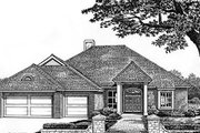 Traditional Style House Plan - 3 Beds 2.5 Baths 2350 Sq/Ft Plan #310-528 Exterior - Front Elevation