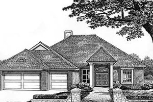 Traditional Exterior - Front Elevation Plan #310-528
