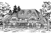 European Style House Plan - 4 Beds 3.5 Baths 3532 Sq/Ft Plan #312-720 Exterior - Front Elevation
