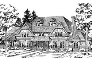 European Exterior - Front Elevation Plan #312-720