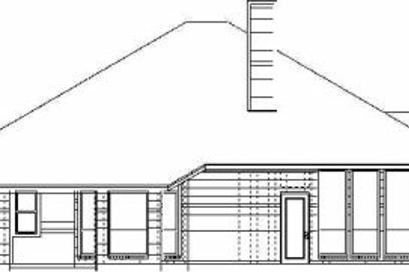 Traditional Exterior - Rear Elevation Plan #84-139 - Houseplans.com