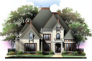 Dream House Plan - European Exterior - Front Elevation Plan #119-323