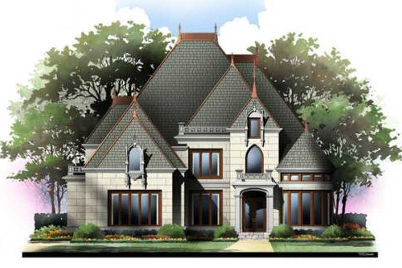 Architectural House Design - European Exterior - Front Elevation Plan #119-323