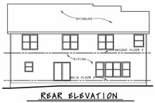 House Design - Traditional Exterior - Rear Elevation Plan #20-2421