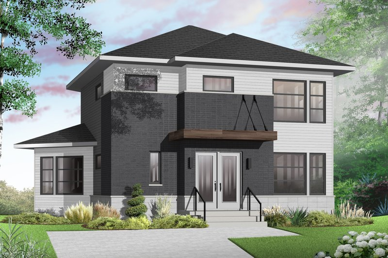 Architectural House Design - Contemporary Exterior - Front Elevation Plan #23-2587