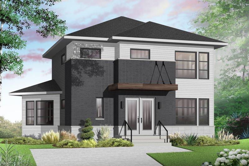 House Plan Design - Contemporary Exterior - Front Elevation Plan #23-2587
