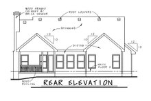 Dream House Plan - Traditional Exterior - Rear Elevation Plan #20-1248