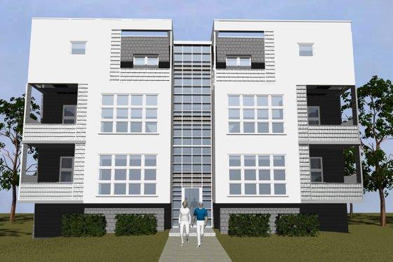 Modern Exterior - Front Elevation Plan #535-12