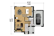 Contemporary Style House Plan - 3 Beds 1 Baths 2342 Sq/Ft Plan #25-4421 Floor Plan - Main Floor Plan