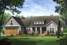 Dream House Plan - Craftsman Exterior - Front Elevation Plan #21-357