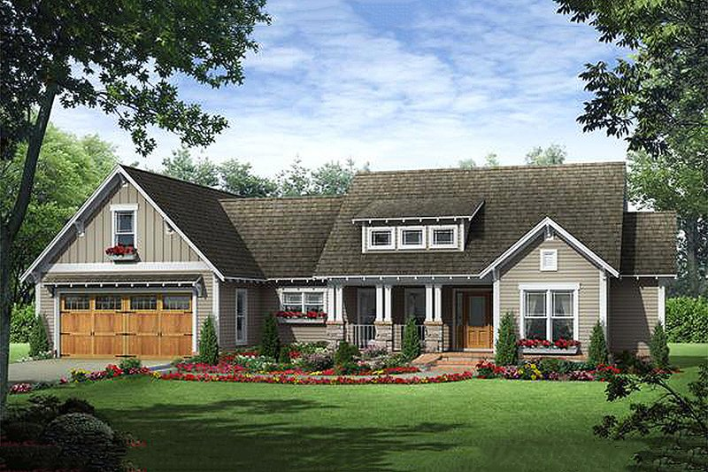 Craftsman Exterior - Front Elevation Plan #21-357 - Houseplans.com