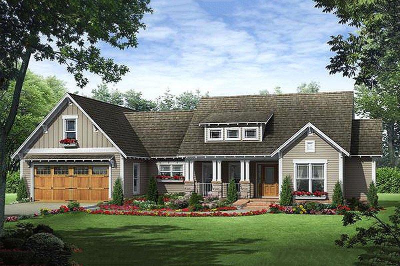 Home Plan - Craftsman Exterior - Front Elevation Plan #21-357