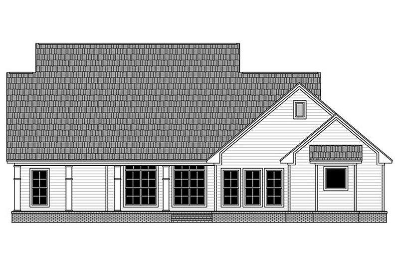 Country Exterior - Rear Elevation Plan #21-385 - Houseplans.com