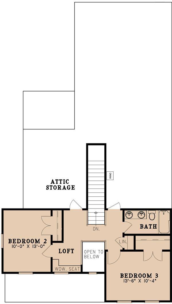 Farmhouse Floor Plan - Upper Floor Plan Plan #923-158